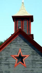 Winchester, New Hampshire; barn stars can be traced back to the 1700s in the USA, but were most popular following the Civil War as signs of good fortune and good luck