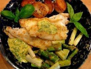 Pan-Fried Sole, with Herbed Fresh Mayonnaise.  Click here for more recipes...