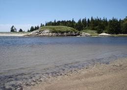 Where Morse River meets the sea on Popham Beach is a good spot to have a picnic