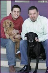 Innkeepers and carriage house residents, PJ & Chance, Frank & Rascal