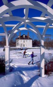 Cross Country Skiiers at Hamilton House in Maine